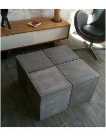 Table modulable beton