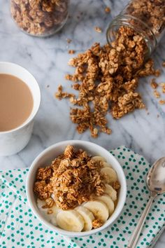 If you ever needed an excuse to get more peanut butter in your day, here it is! Naturally sweetened (w/ no refined sugar) Chunky Peanut Butter Granola   TheCornerKitchenBlog.com #granola #peanutbutter