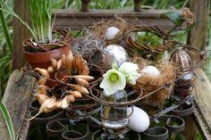 Polsterfederung im Frühlingsgarten