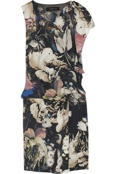 Thakoon draped floral-print crepe dress