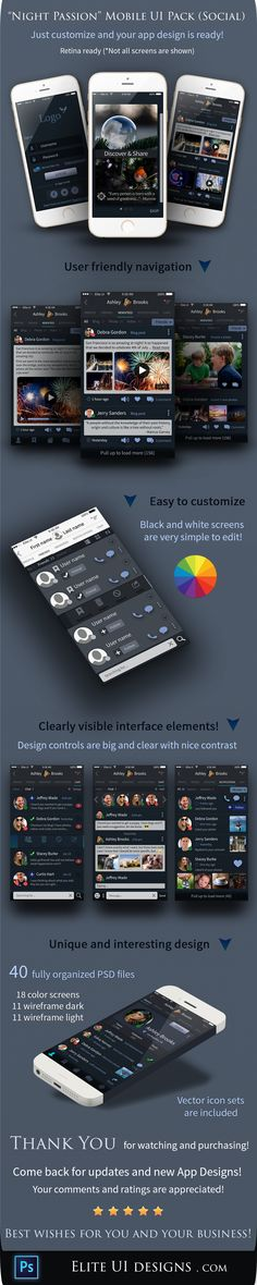 Awesome UI kit for a social app!