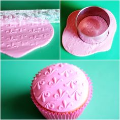 Cupcake decorado com camafeu