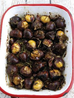 Oven Roasted Chestnuts With Spiced Melted Butter Recipe — Dishmaps