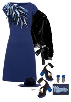 """ESCADA Dress"" by birgitte-b-d ❤ liked on Polyvore featuring Christian Dior, ESCADA, Salvatore Ferragamo, Valentino, Forest of Chintz and Études"