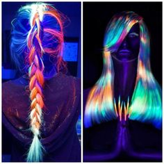 Glow In The Dark Hair Is The Latest Trend  #hair #haircolour #glowinthedark #trend2016