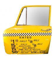 NYC Taxi Door Mirror c.1970