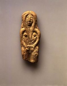 Figurine of a fertility goddess Revadim Late Canaanite period, 13th century BCE Clay H: 11; W: 1.4; Th: 1.7 cm Israel Antiquities Authority