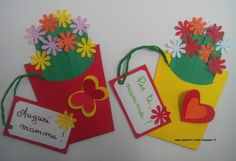 Fête des mères 2019 maestra Nella: Fiori per la mamma Kids Crafts, Preschool Crafts, Easter Crafts, Diy And Crafts, Mom Cards, Mothers Day Cards, Cadeau Parents, Blog Backgrounds, Puppet Crafts