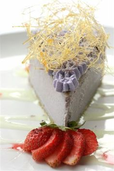 Ube cheesecake from French Corner Alabang    The French Corner  Commerce Avenue corner Filinvest Avenue  Westgate Center, Filinvest Corporate City  Alabang, Muntinlupa City  771-2345