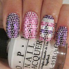 Glitter placement #nailart @ nailsbynikkih