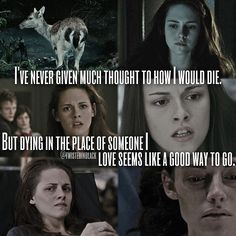I've actually never thought about that, her almost dying for Edward in NM or Renesmee in BD.... Hmmm