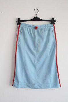 BNWT ADIDAS Retro Knit Midi Skirt 3D-91074 Blue Size L #adidas #Casual