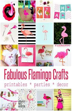 Cute Flamingo Crafts and Projects | Crafting in the Rain
