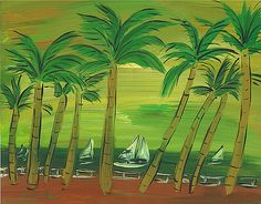 Browse through images in Sally Huss' Fine Art collection. Art for residential and commercial spaces painted by Sally Huss. Space Painting, Palms, Palm Trees, Enchanted, Serenity, Fine Art America, Plant Leaves, Original Paintings, Ocean