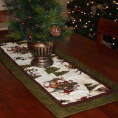 A Dicken's Christmas Quilted Table Runner