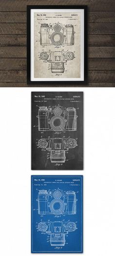 8b2841492eb2 Founder Cole Borders turns original hand drawn patents into incredible art  prints. Vintage Camera Patent