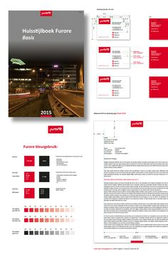 Ontwerp voor de nieuwe huisstijl van Furore. Design for a new corporate identity of Furore.
