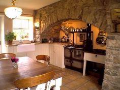 Irish country kitchen.