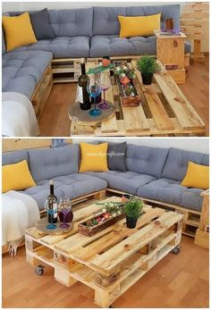 Creative DIY Ideas with Recycled Shipping Pallets is part of Pallet furniture - Creative DIY Ideas with Recycled Shipping Pallets Wood pallet material and recycled old wood pallets are might taken as one of the first consideration in the home furniture Pallet Garden Furniture, Diy Furniture Couch, Cheap Furniture, Furniture Ideas, Outdoor Furniture, Palette Furniture, Lawn Furniture, Furniture Design, Diy Pallet Couch