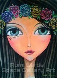 Resultado de imagen para romi lerda Art Pop, Arte Popular, Whimsical Art, Types Of Art, Face Art, Mixed Media Art, Art Girl, Zentangle, Art Drawings