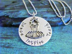Dance Teacher Gift - Dance, Teach and Inspire, End of Year Gift, Dance Recital Gift, Personalized Gift for Dance Teacher, Dance Instructor