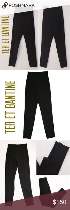 "Ter et Bantine High Waist Trousers 🆕 Ter et Bantine high waist skinny trousers in black. Size IT42/ US6 or 8. Made in Italy. Composition: 53% polyester, 43% wool; 4% elastane. Zippered side waist closure. Zippered ankle closures. Inseam 31"", front rise 13"", back rise 17.5"". Two front and two back flat pleats for a corseted feel. Model picture shown for fit. Ter et Bantine Pants Skinny"