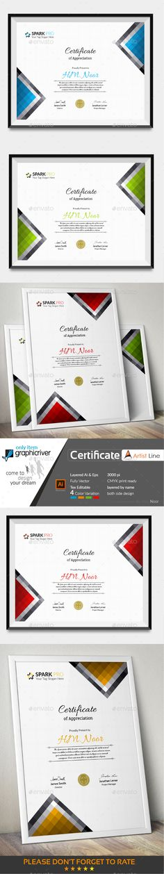 #Certificate - Stationery Print Templates