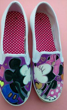 9bbb2580229910 Mickey Mouse Schuhe-Minnie Maus Schuhe-Handbemalte Mickey Mouse Schuhe