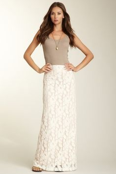 Kendall K Coralie Lace Maxi Skirt by Maximum Lengths on @HauteLook