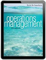 Operations Management 5th Edition by R. Dan Reid, Nada R. Sanders   $55
