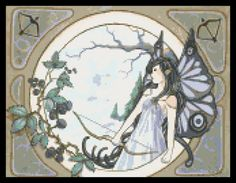 Astrology sagittarius fairy cross stitch kit or pattern