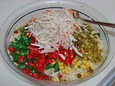 Tavuklu Arpa Şehriye Salatası Resmi
