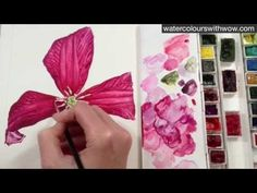 How to paint realistic flower stamens in watercolour with Anna Mason