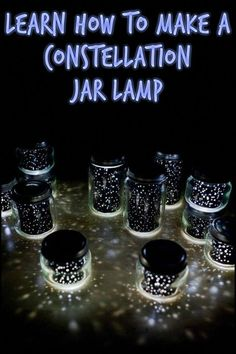DIY Constellation Jar Lamp – Craft projects for every fan! Pot Mason Diy, Mason Jar Crafts, Mason Jars, Constellation Jar, Constellation Activities, Outer Space Party, Outer Space Theme, Diy Hanging Shelves, Summer Reading Program