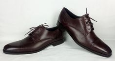 100% Authentic ERMENEGILDO ZEGNA Fatte A Mano Oxfords Shoes Brogue 9 / 42 NEW #ErmenegildoZegna #OxfordsHANDMADEFatteamano