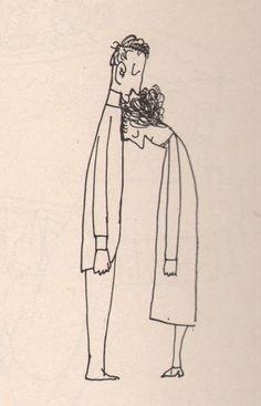 "Saul Steinberg ""Kiss"", 1959"