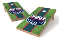 Florida Atlantic Owls Cornhole Board Set - Field (w/Bluetooth Speakers)