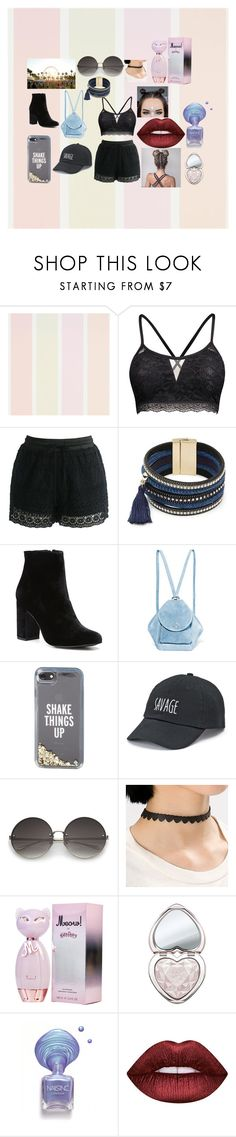 """""""Co."""" by hereitsjustme on Polyvore featuring Chicwish, Design Lab, Witchery, MANU Atelier, Kate Spade, SO, Too Faced Cosmetics y Lime Crime"""