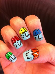 Umbrella nail art @Cherry Ocampo @vanam82