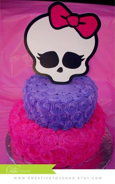 Monster High birthday party cake! See more party planning ideas at CatchMyParty.com!