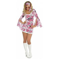 1970/'s Disco Fancy Dress//Cosplay #CA One Size Seventies Tash