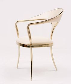 Brass Vidal Grau Cosmos Chairs in Nappa Leather 3