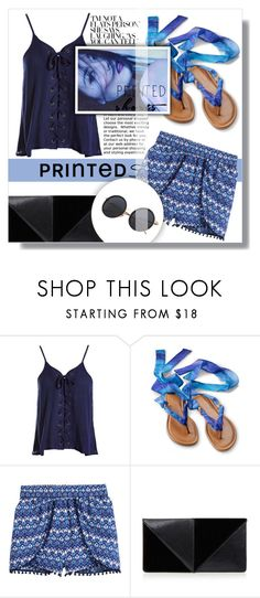 """""""Prints Charming: A Shorts Story"""" by queen-amra ❤ liked on Polyvore featuring Sans Souci, H&M, UN United Nude and printedshorts"""