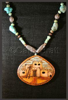 Carla Bratt | http://www.laughingfishstudios.com/nativeamericangourds.html