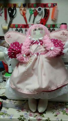 Boneca anjo pode ser usada porta.maternidade personalizada