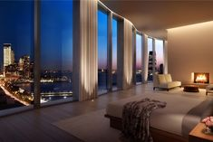 The apartment in Herzog & de Meuron–designed 160 Leroy will soon hit the market Luxury Penthouse, Luxury Apartments, Interior Architecture, Interior Design, Luxury Homes Dream Houses, Best Kitchen Designs, Staircase Design, Pent House, House Goals