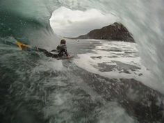Boogtique - Crazy GoPro shot of Boogtique team rider Tom Gillespie, taken by Jase Finlay Bodyboarding