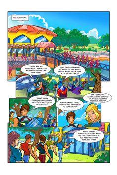 Winx Club: Comics and Episodes — Poison Translated by Rainbow S. Monster High School, Comic Page, Winx Club, Book Of Shadows, Rainbow, Comics, Saga, Cloud, Anime