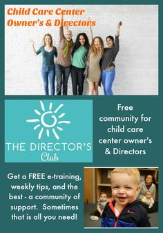 Child care center owner's and directors do you need support? Do you need tips . Small Business Start Up, Writing A Business Plan, Business Ideas, Small Business Association, Preschool Director, Inspirational Lines, Starting A Daycare, Healthy Pregnancy Tips, Advertising And Promotion