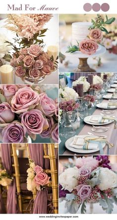 100 Hottest Mauve Wedding Decorations for Your Upcoming Day - Wedding Invites Paper shade of pink wedding decorations/ shade of purple wedding centerpieces/ floral spring wedding decorations